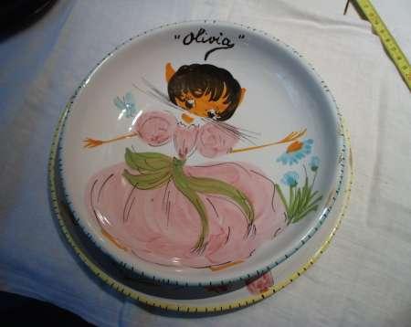 Photo ads/1538000/1538636/a1538636.jpg : Paire d'assiettes personnalisées Olivia