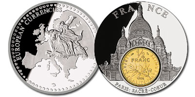 Photo ads/607000/607225/a607225.jpg : PIECE FRAPPE « France Inlay Sacré-Cœur ½ franc »